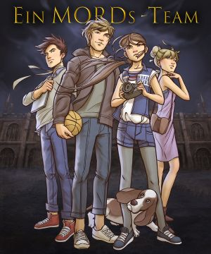 Ein MORDs-Team - Comic Art von Regina Mars. Die Krimi-Reihe von Andreas Suchanek.