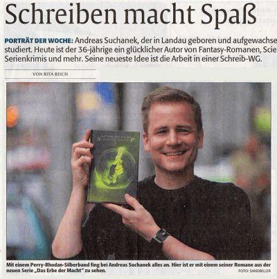 Portrait von Andreas Suchanek in der Rheinpfalz vom 08.09.2018 - www.andreassuchanek.de