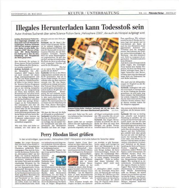 Andreas Suchanek - Interview im Pfälzischen Merkur - www.andreassuchanek.de
