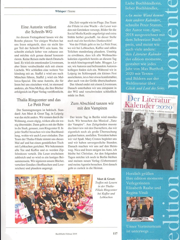 Die Schreib-WG im Buchmarkt Magazin - www.andreassuchanek.de
