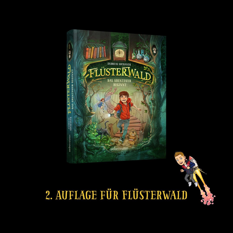 Flüsterwald - Das Abenteuer beginnt geht bereits vor dem Verkaufstag in die 2. Auflage.